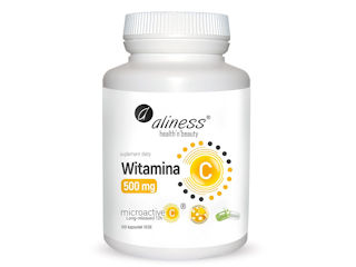 Suplement diety Witamina C 500 mg, micoractive 12h x 100 Vege caps.