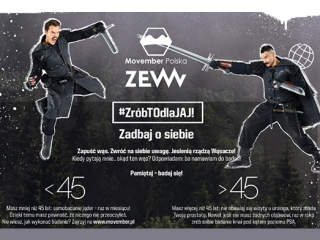ZEW for men wspiera Movember Polska